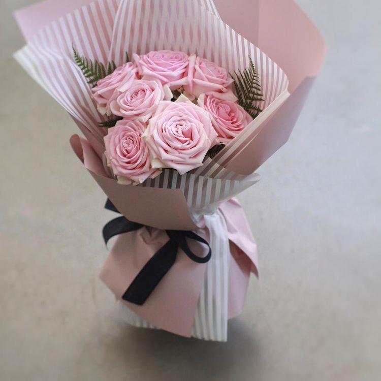 Букет из роз «розовое пралине»