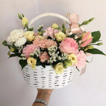 Корзина «Розовая вуаль»