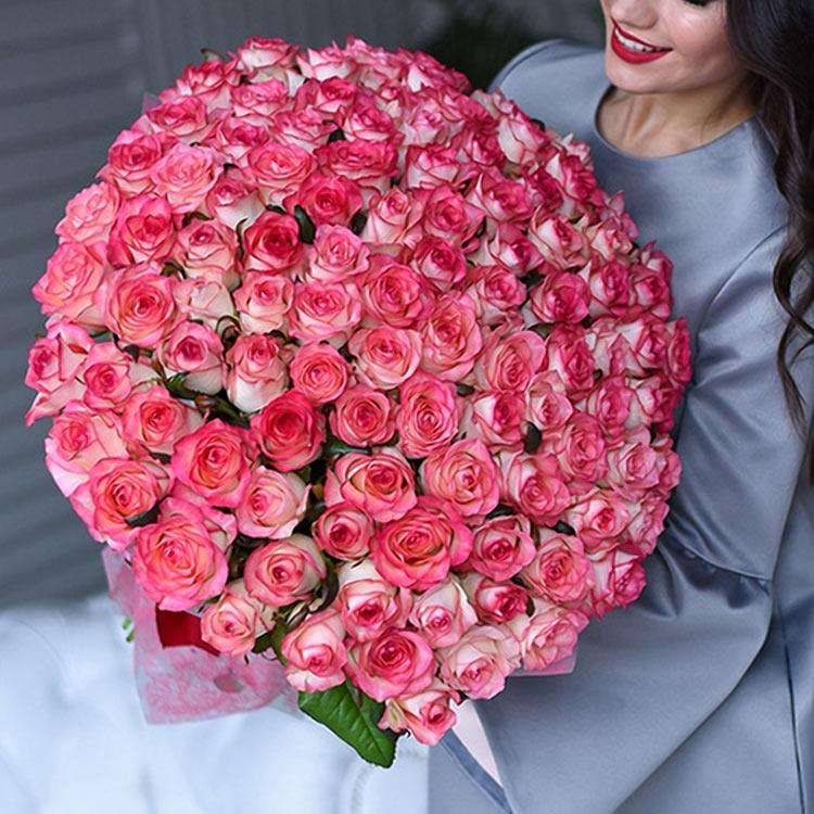 Розовое настроение 101 роза