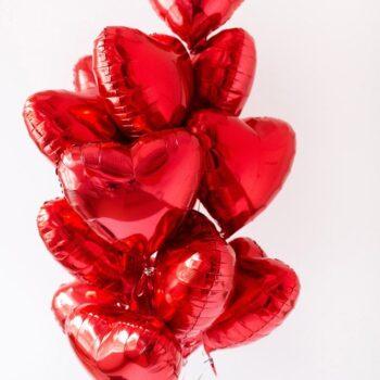 11 фольгированых шаров Сердец!
