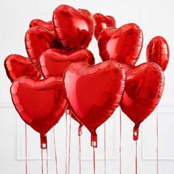 Набор красных сердец