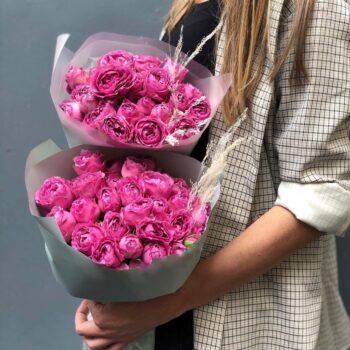 Букет из баблз роз